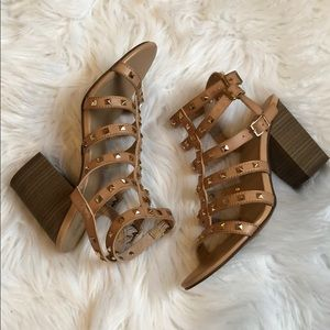 Mossimo Supply Co. Shoes - Tan studded heels